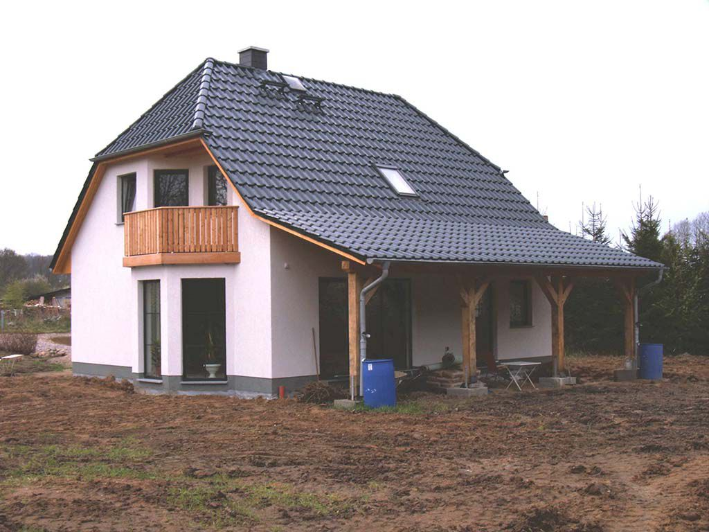 Bungalow Rote Herbstaster
